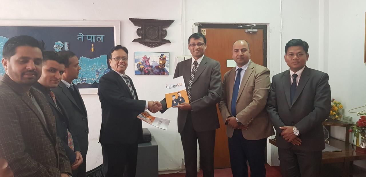 'Bancassurance' agreement between Nepal Bank and Citizen Life Insurance