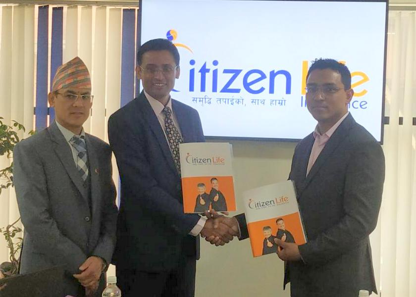Citizen Life Insurance Co. and Nepal Clearing House Ltd. Signing Agreement